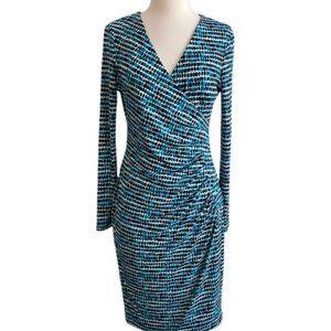 Calvin Klein Faux Wrap V-Neck Dress